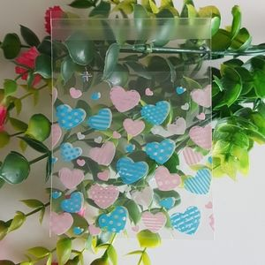 Office - NEW 45 Heart Clear Favor Bags (7cm x 7cm)